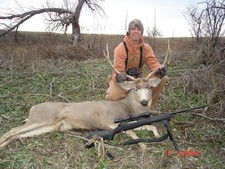Trent with a mulie during the 2008 SD deer season.