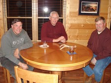 Al, Jack and Steve at the lodge playing cards.